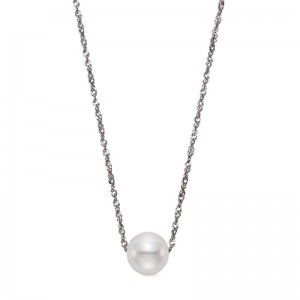 Mastoloni 14K WG 7.5-8.0MM FW FLOATING PEARL PENDANT