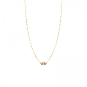 Zoe Chicco itty bitty single diamond evil eye necklace