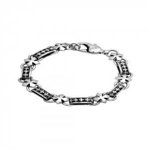 KB Ss Mb Cross Link Bracelet-  One Size Only