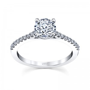 CD .18Ctw 14K Wg Microprong Setting For 1.00Ct Rb Center