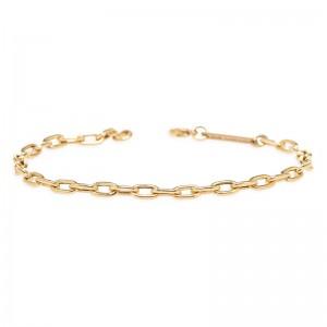 Zoe Chicco Medium Square Oval Link Chain Bracelet