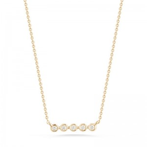 Dana Rebecca Lulu Jack Mini Bezel Bar Necklace