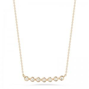 Dana Rebecca Lulu Jack Bezel Bar Necklace