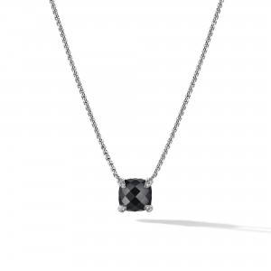 Chatelainea® Pendant Necklace with Black Onyx and Diamonds