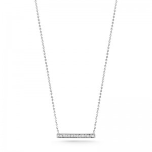 Dana Rebecca Sylvie Rose Medium Bar Necklace With Diamonds