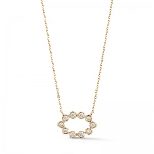 Dana Rebecca Lulu Jack Open Oval Bezel Necklace