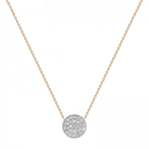 Dana Rebecca Lauren Joy Medium White Gold Disc Necklace