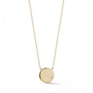 Dana Rebecca Lulu Jack Gold Disc Necklace