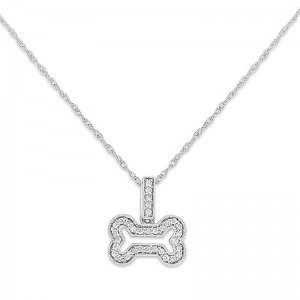 Diamond Small Bone Necklace