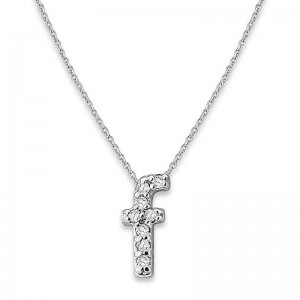 Bitty Diamond Initial Pendant F