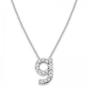 Bitty Diamond Initial Pendant G