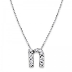 Bitty Diamond Initial Pendant N