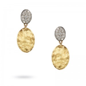 Marco Bicego Siviglia Collection 18K Yellow Gold & Diamond Pave Drop Earrings