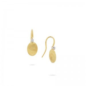 Marco Bicego 18K Yellow Gold Siviglia Collection Drop Earring With Diamonds .05Ctw