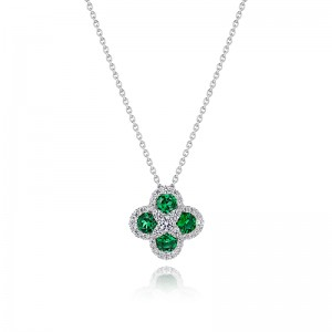 Endless Bilss Emerald and Diamond Pendant