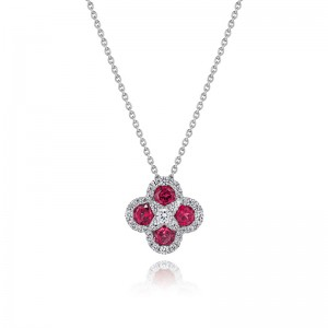 Endless Bliss Ruby and Diamond Pendant