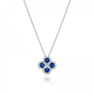 Endless Bliss Sapphire and Diamond Pendant