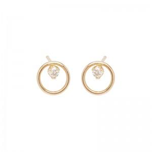 Zoe Chicco Circle Diamond Prong Studs