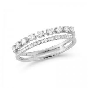 Dana Rebecca Ava Bea Double Row Ring