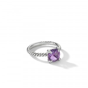 Chatelainea® Ring with Amethyst and Diamonds