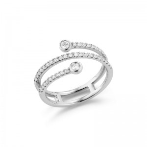 Dana Rebecca Lulu Jack Bezel Diamond Wrap Ring