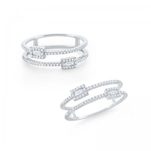 Diamond Double Band Ring