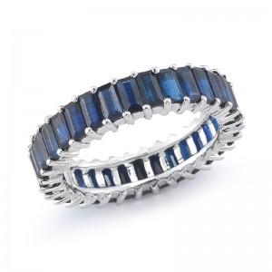 Dana Rebecca Kristyn Kylie Baguette Sapphire Ring