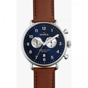 Canfield 43MM, Leather Strap Watch