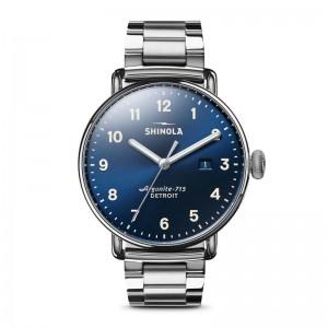 Canfield 3HD 43mm, 3 Link Silver Bracelet Watch