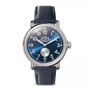 Runwell Sub Second 41mm, Ocean Leather Strap Watch