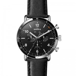 Canfield Sport 45MM, Leather Strap Watch