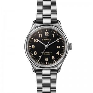 38Mm Ss  Vinton 3Hd W/ Black Dial & Ss Bracelet Shinola Watch