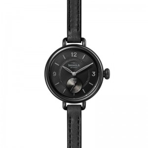 Birdy Sub Second 34mm, Black Leather Strap