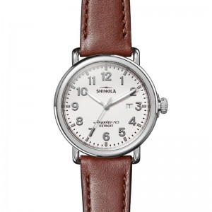 Runwell 3HD 41mm, Dark Cognac Leather Strap