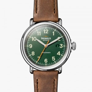 Runwell 45MM, Leather Strap Watch