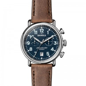 Runwell 41MM, Leather Strap Watch