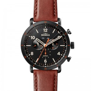 Canfield Sport 45mm, Dark Cognac Leather Strap