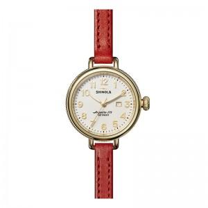 Birdy 34MM, Leather Strap Watch