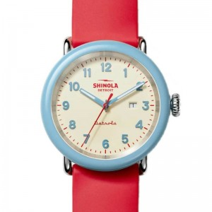 Detrola 43MM, Rubber Strap Watch