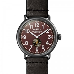 Runwell 47MM, Leather Strap Watch
