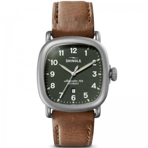 Guardian 43MM, Leather Strap Watch