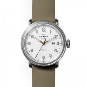 Detrola 43MM, Silicone Strap Watch