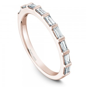 NC 14K Rg .49Ctw 9 Baguette Diamond Stackable Band