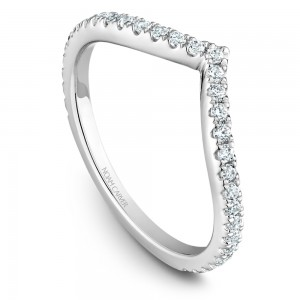 NC Sample 14K Wg .36Ctw Diamond  V  Stackable Band