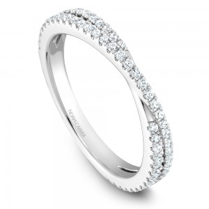 NC Sample 14K Wg .40Ctw Crossover Diamond Stackable Band
