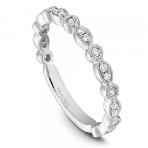 NC Sample 14K Wg .21Ctw Diamond Stackable Band