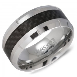 A tungsten Torque band with a carbon fibre inlay.