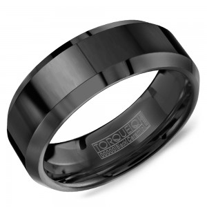 A Torque black ceramic Torque band with beveled edges.