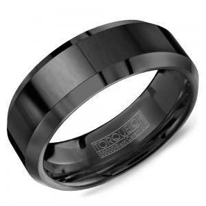 A Torque black ceramic Torque band with beveled edges.