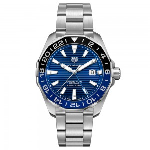 Aquaracer 300M Aluminum Bezel Calibre 7 Automatic GMT Watch